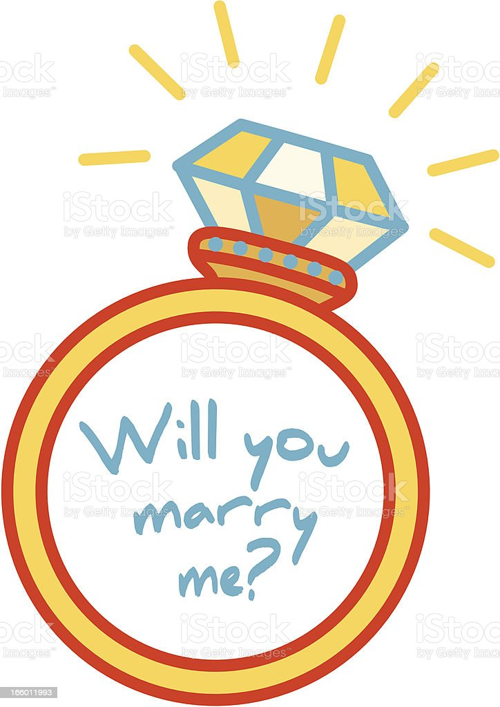 diamond ring cartoon royalty-free stock vector art