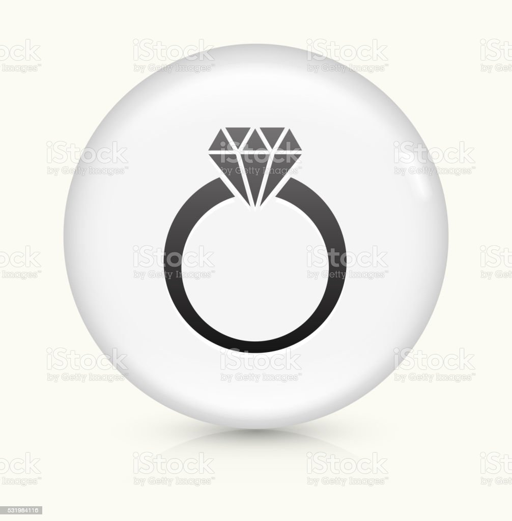 Diamond Ring icon on white round vector button vector art illustration