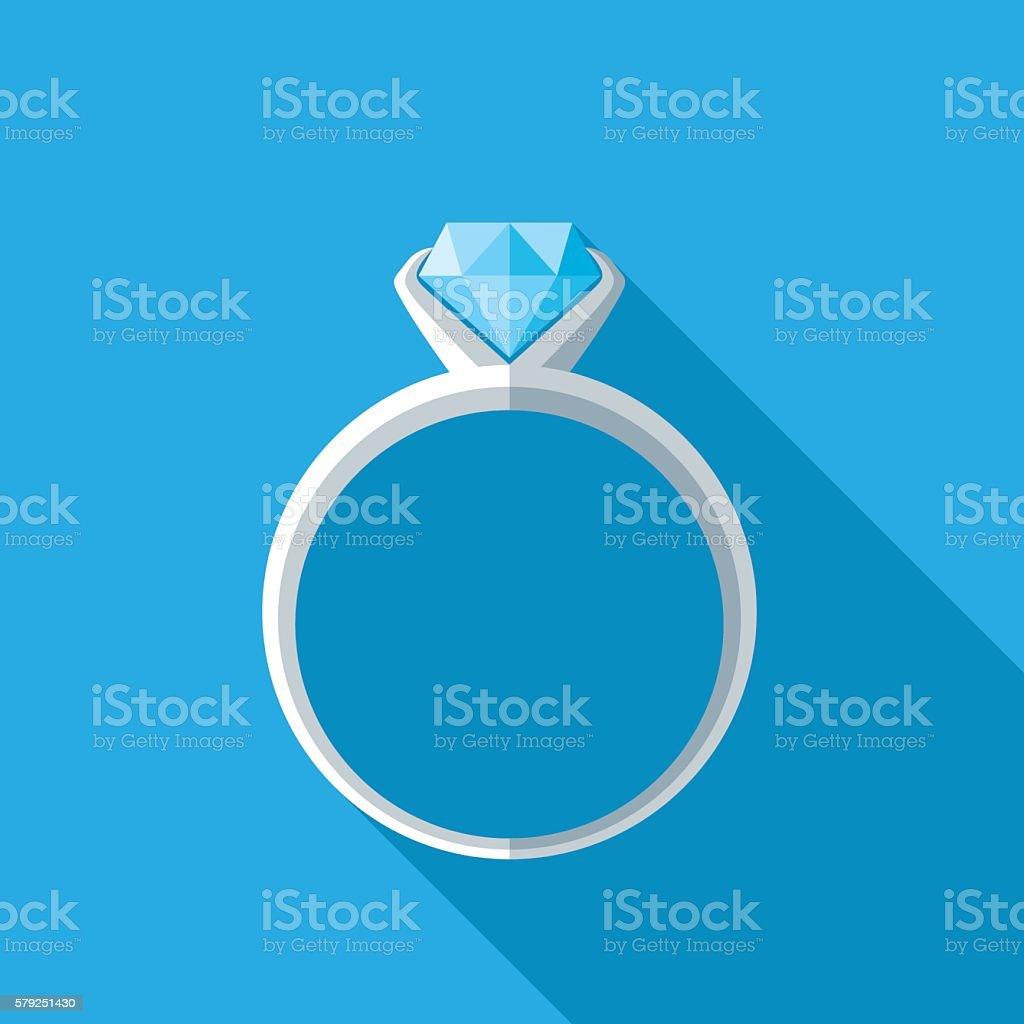 Diamond Ring Icon vector art illustration