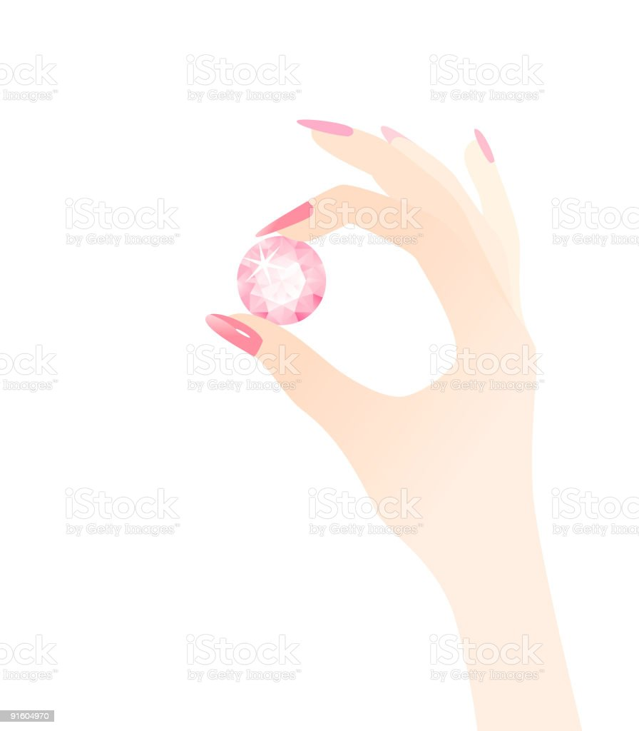 A diamond ring is a woman's best friend  royalty-free stock vector art
