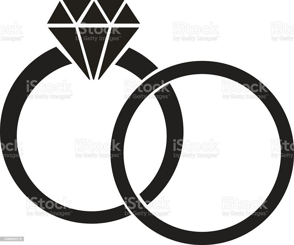 Wedding Ring Clip Art, Vector Images & Illustrations - iStock