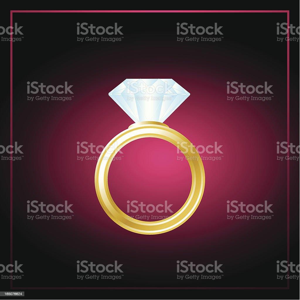 Diamond ring vector art illustration