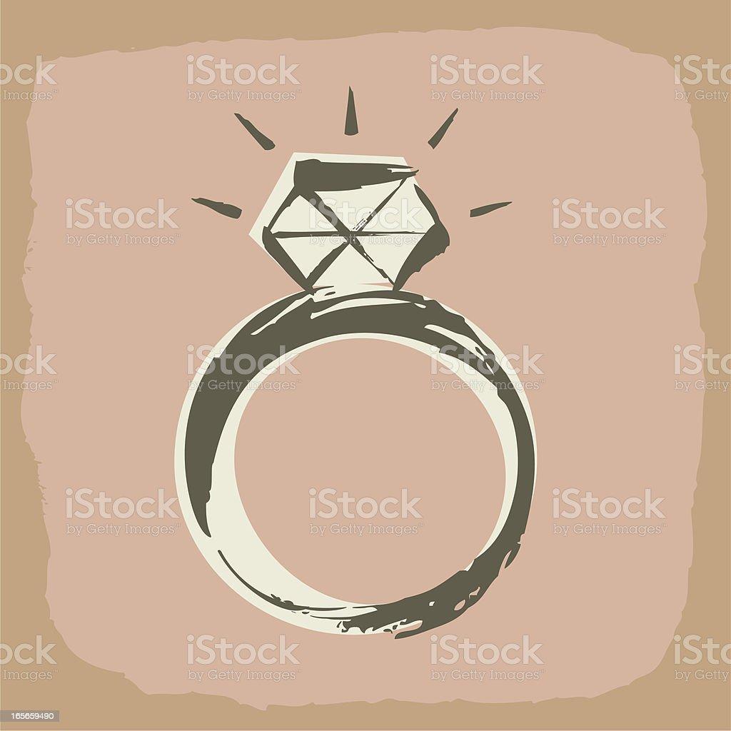 Diamond Ring royalty-free stock vector art