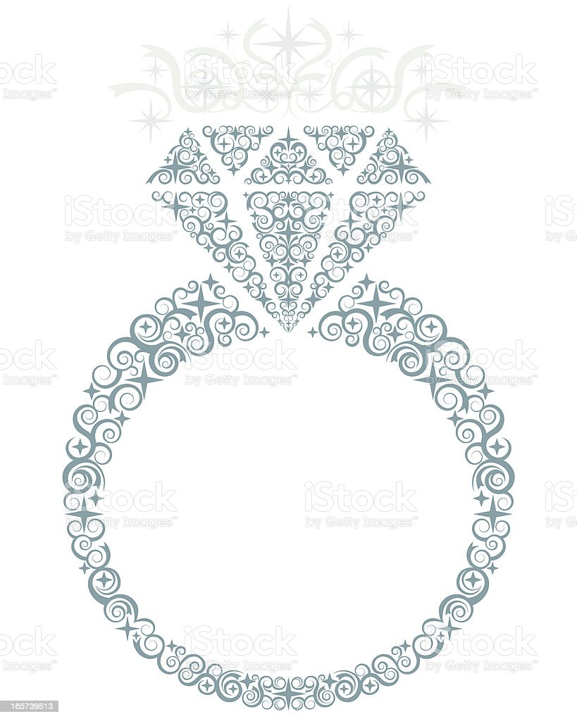 Diamond Ring vector art illustration