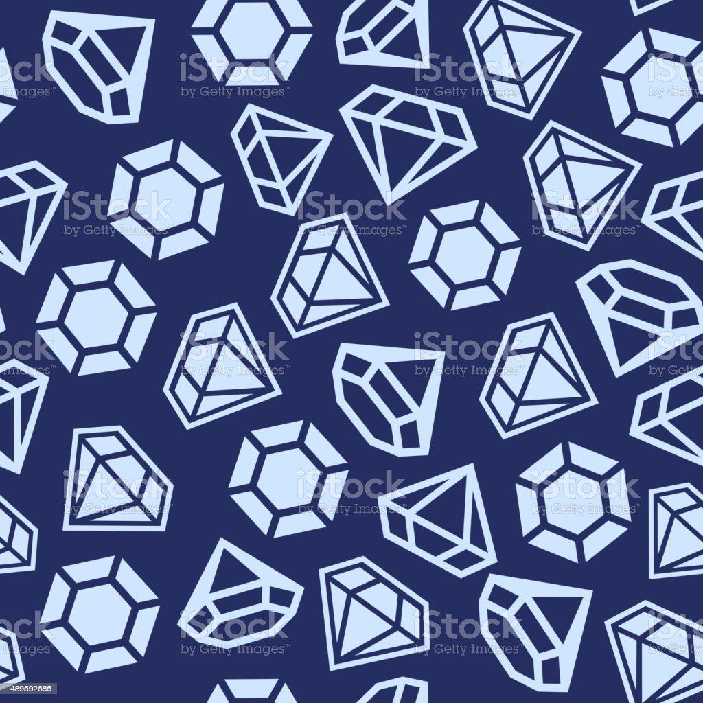 Diamond Seamless Pattern royalty-free stock vector art