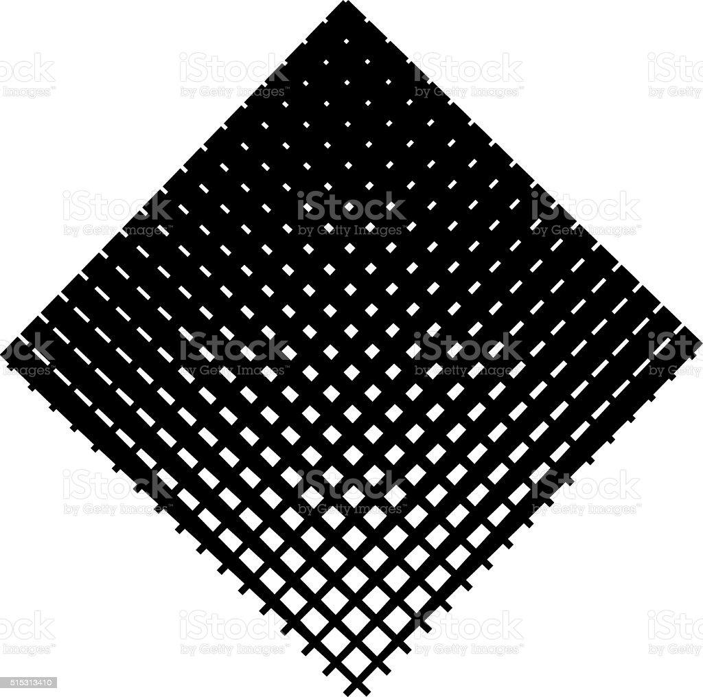 Diamond Shape Halftone Pattern vector art illustration