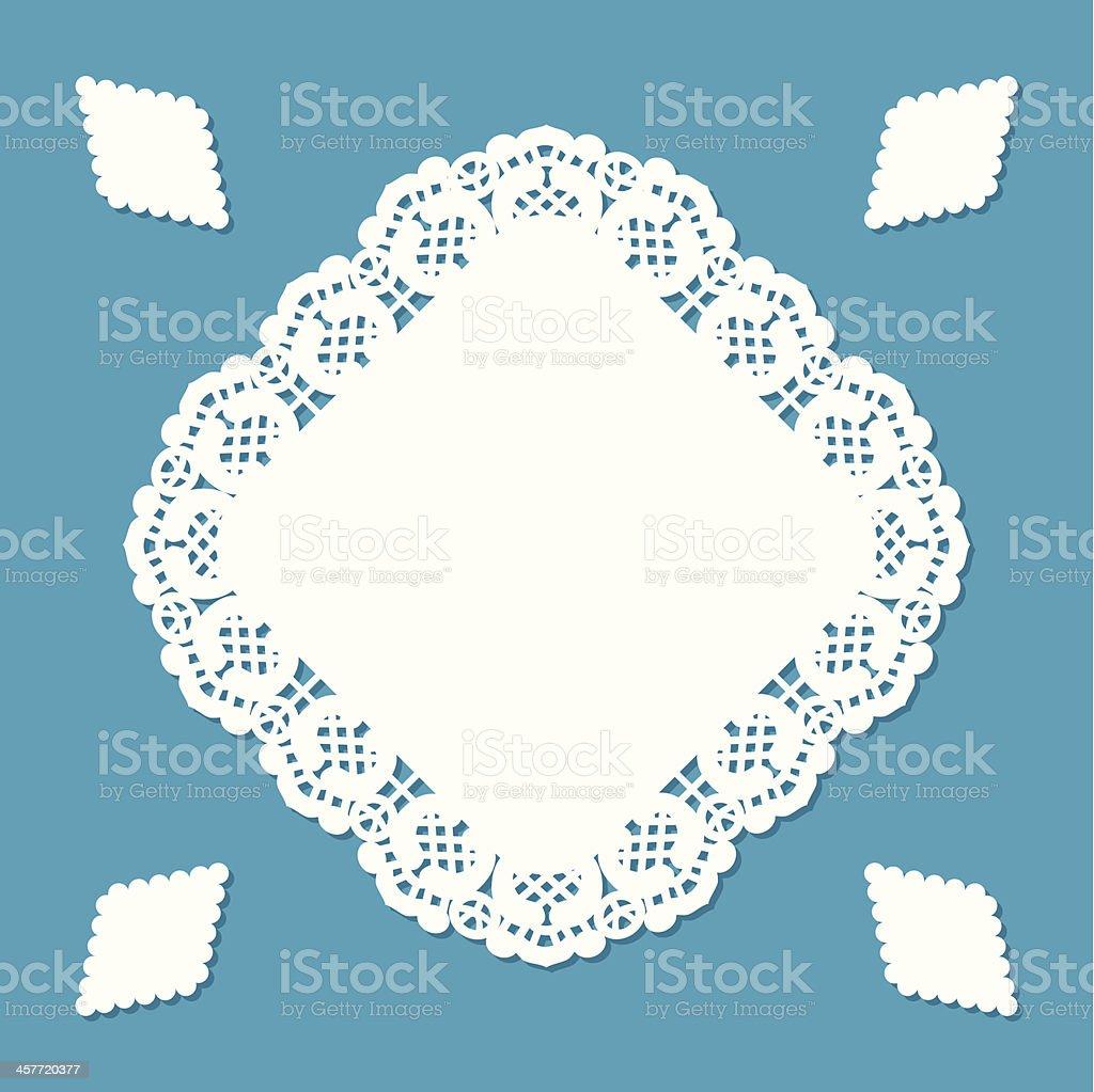 Diamond shaped doily vector art illustration