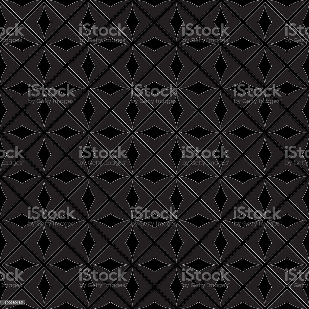 A diamond shaped, repeating vector pattern royalty-free stock vector art