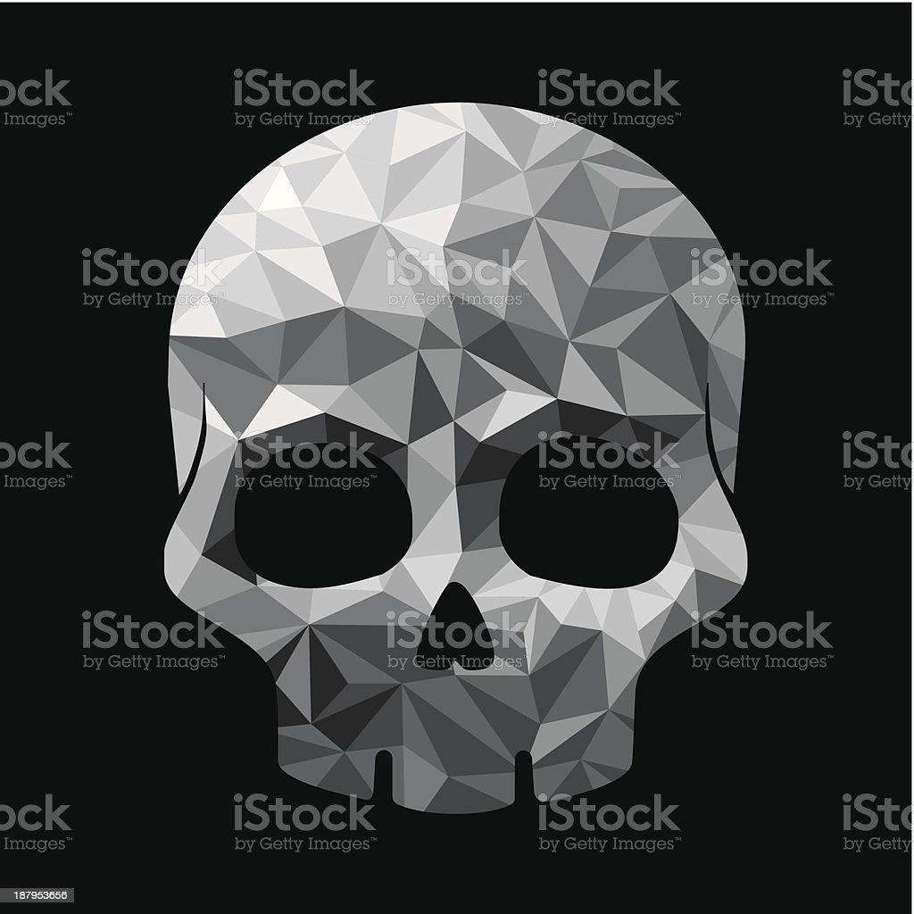 Diamond skull make with triangles royalty-free stock vector art