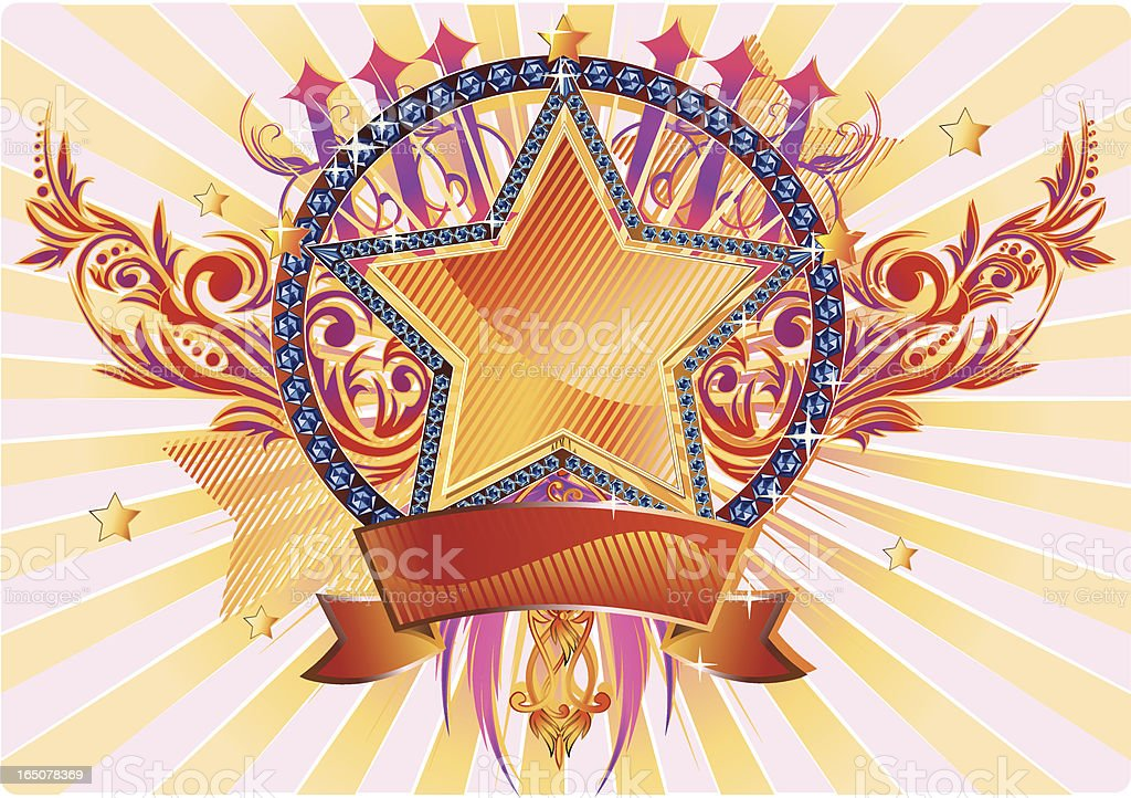 Diamond star II royalty-free stock vector art