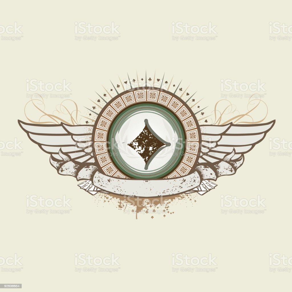Diamond Suit emblem royalty-free stock vector art
