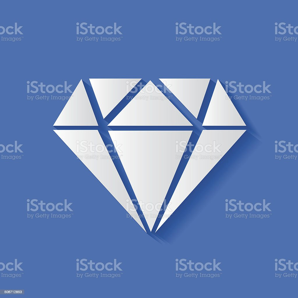 Diamond symbol,vector vector art illustration