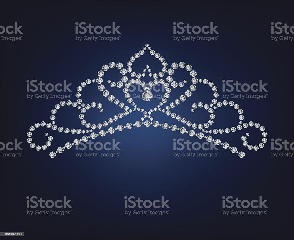 Diamond tiara - vector illustration vector art illustration