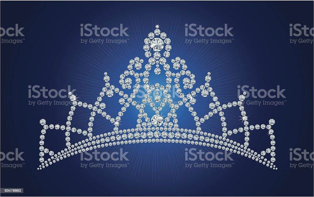 Diamond tiara / vector vector art illustration