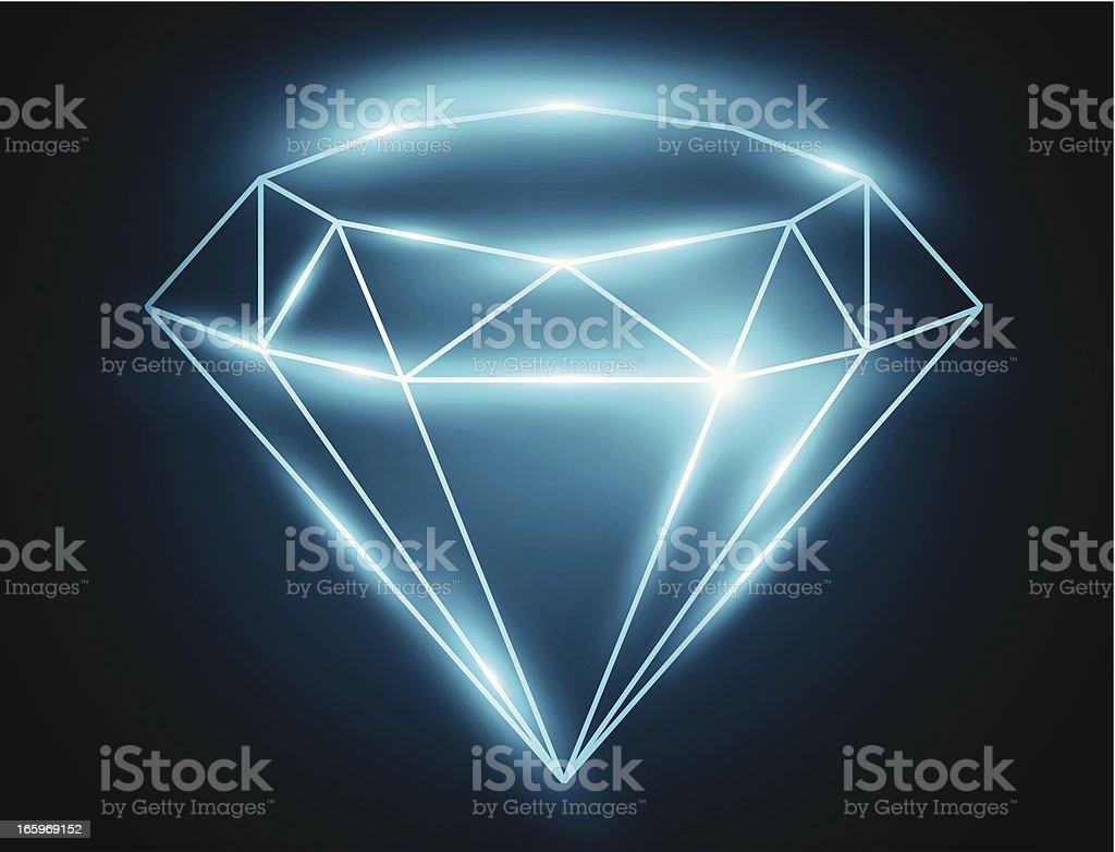 Diamond vector art illustration