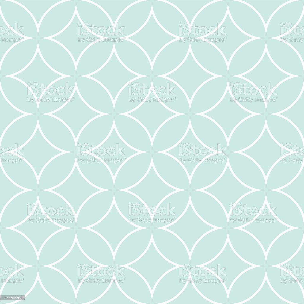 diamonds and circles pattern petals vector art illustration