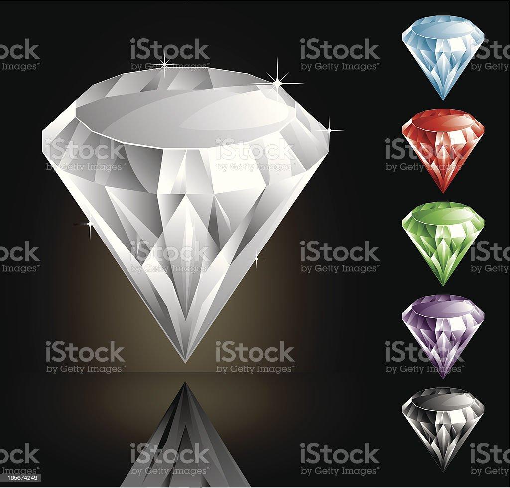 Diamonds royalty-free stock vector art