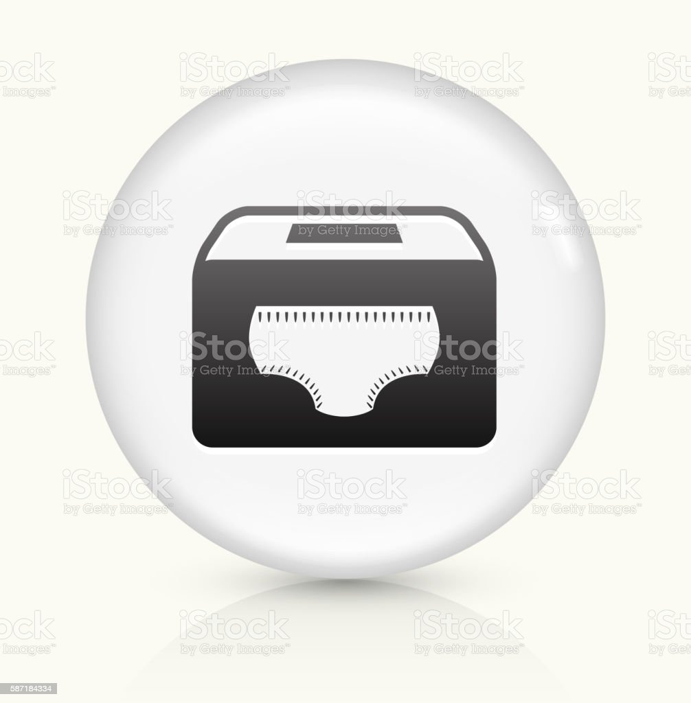 Diaper Holder icon on white round vector button vector art illustration