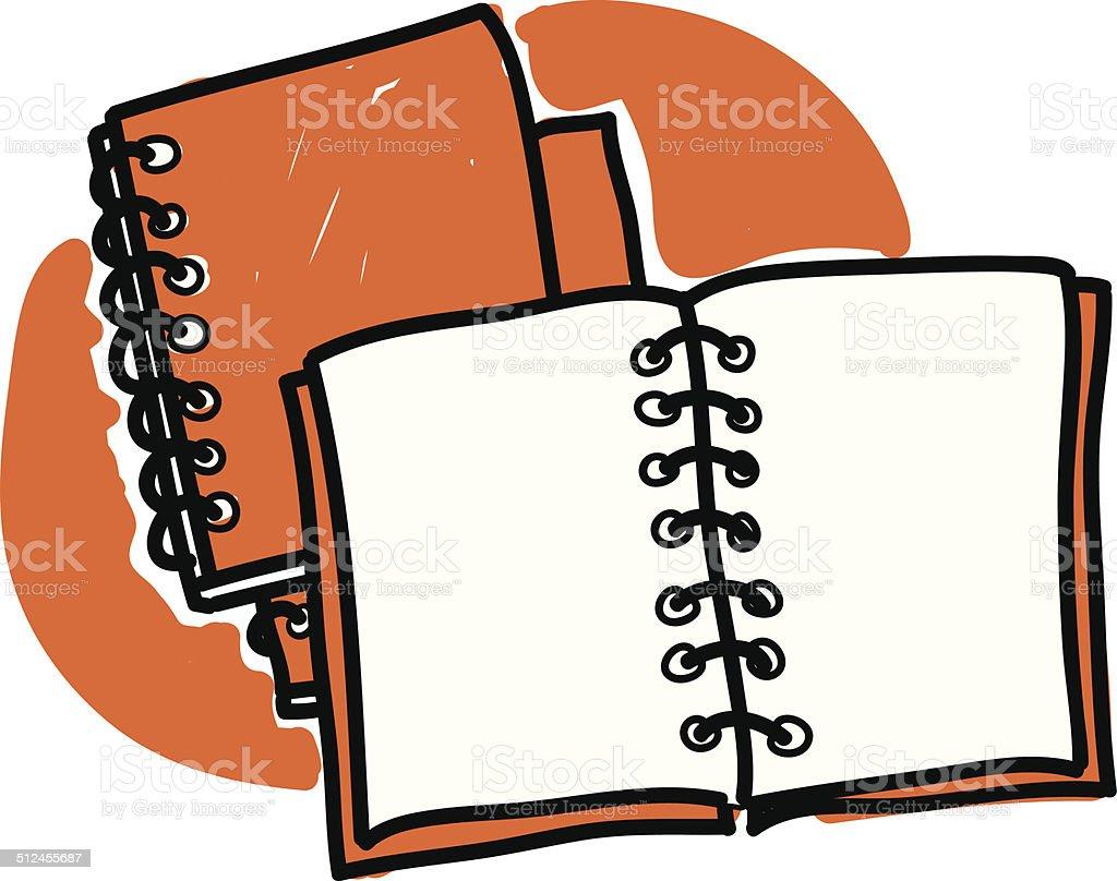 diaries scribble vector art illustration