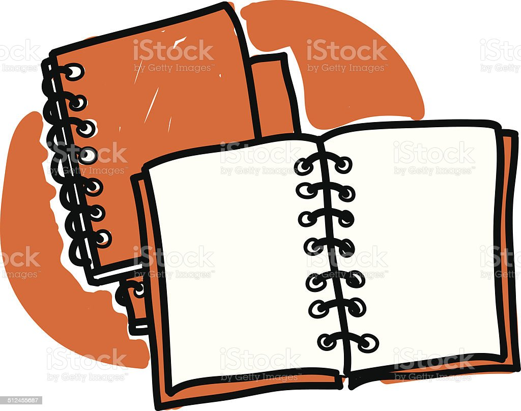 diaries scribble vector art illustration