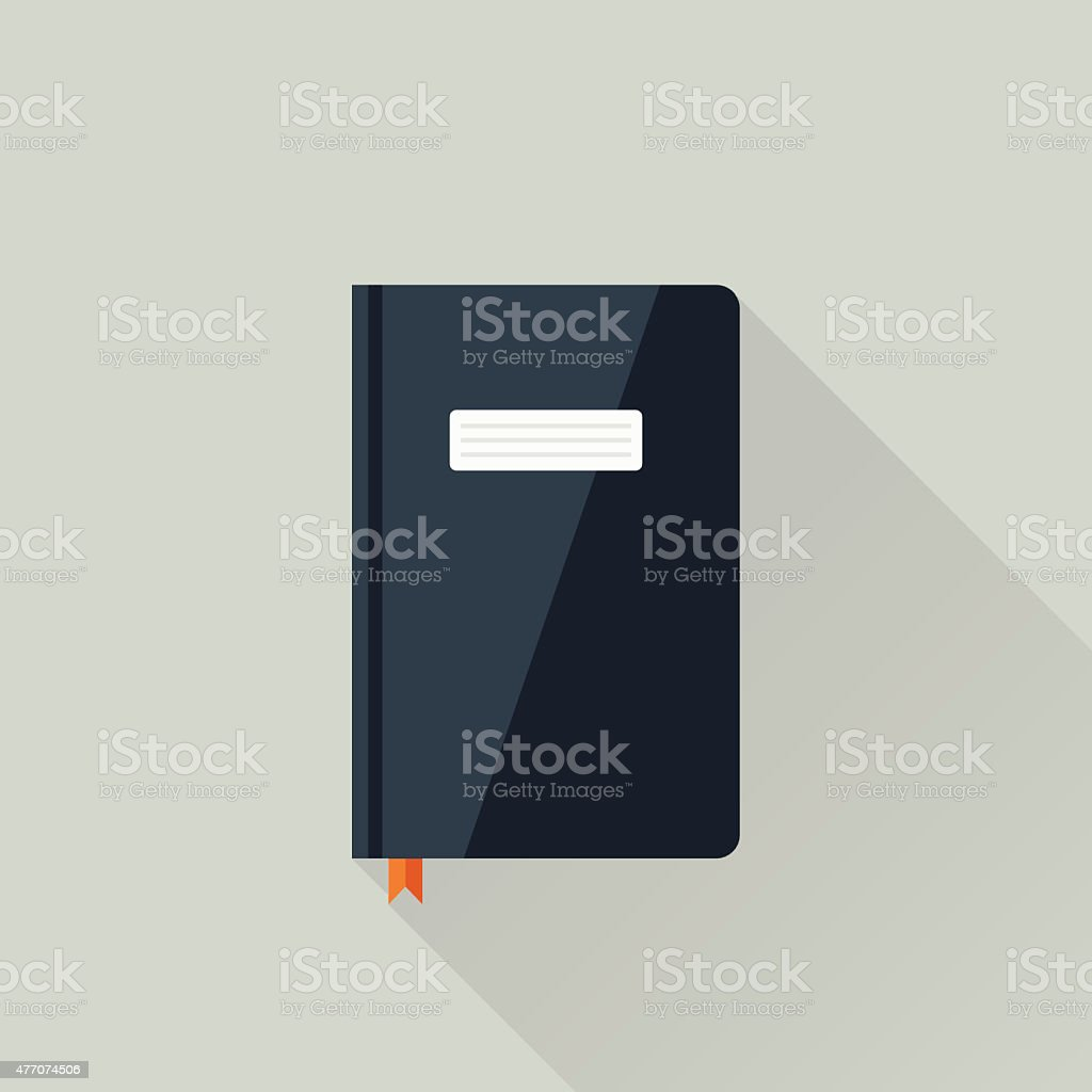 Diary vector art illustration