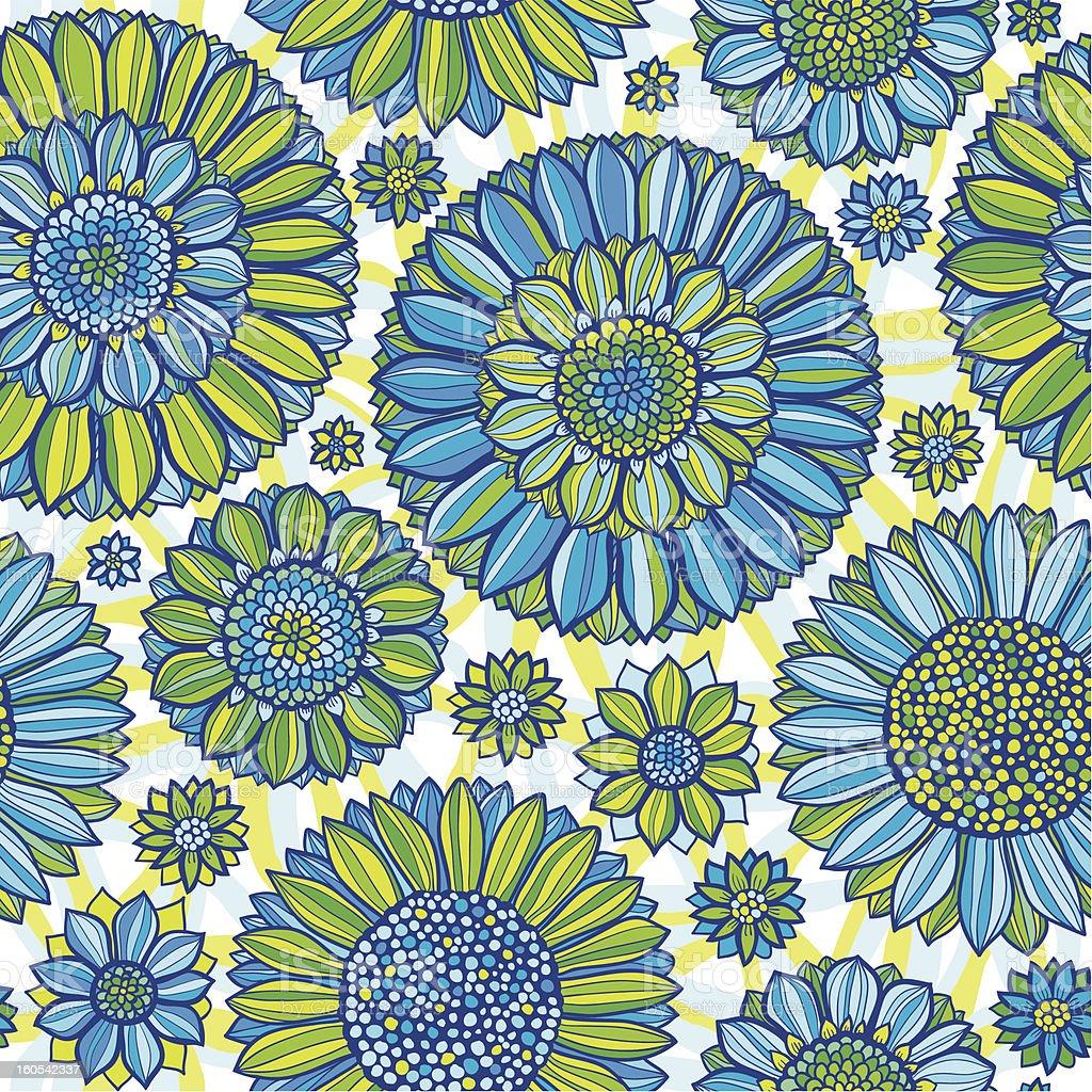 Diasy seamless pattern royalty-free stock vector art