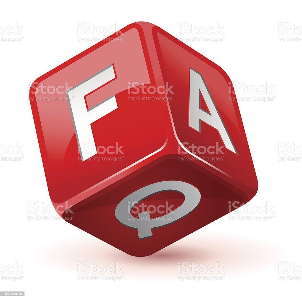 dice faq icon royalty-free stock vector art