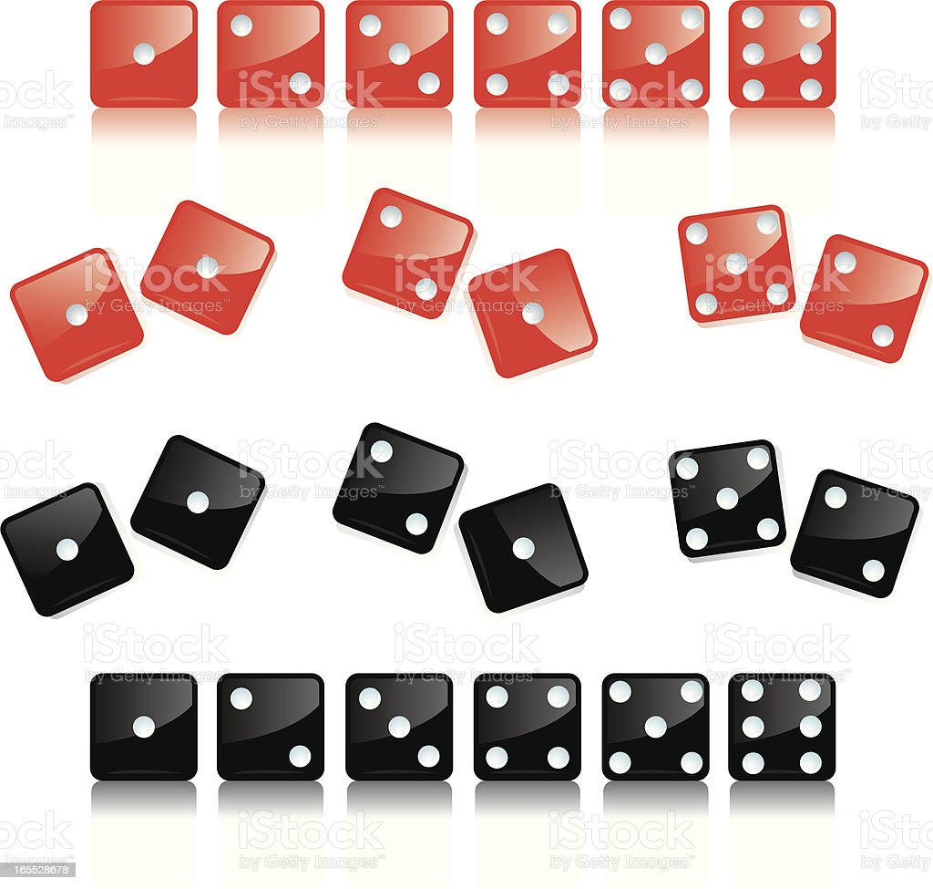 Dice - Game Piece, Gambling vector art illustration