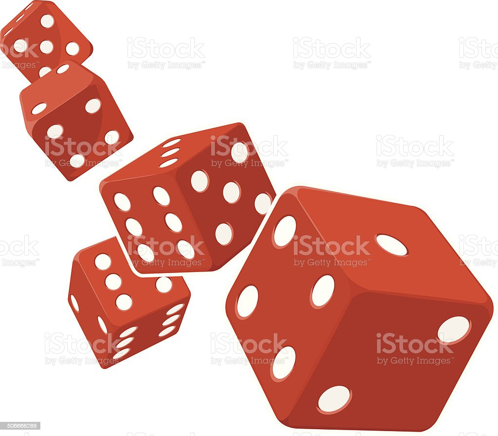 Dice Rolling with White Background vector art illustration