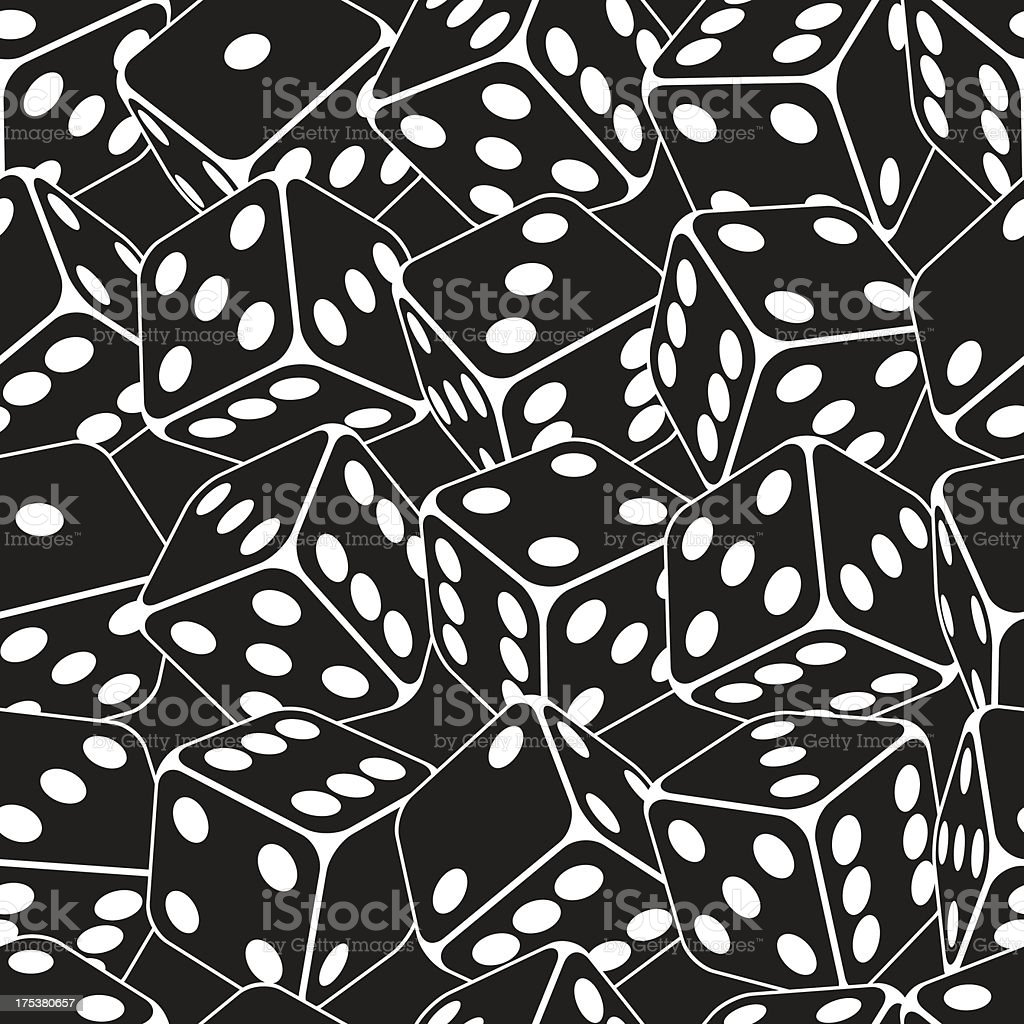 Dice seamless background pattern royalty-free stock vector art