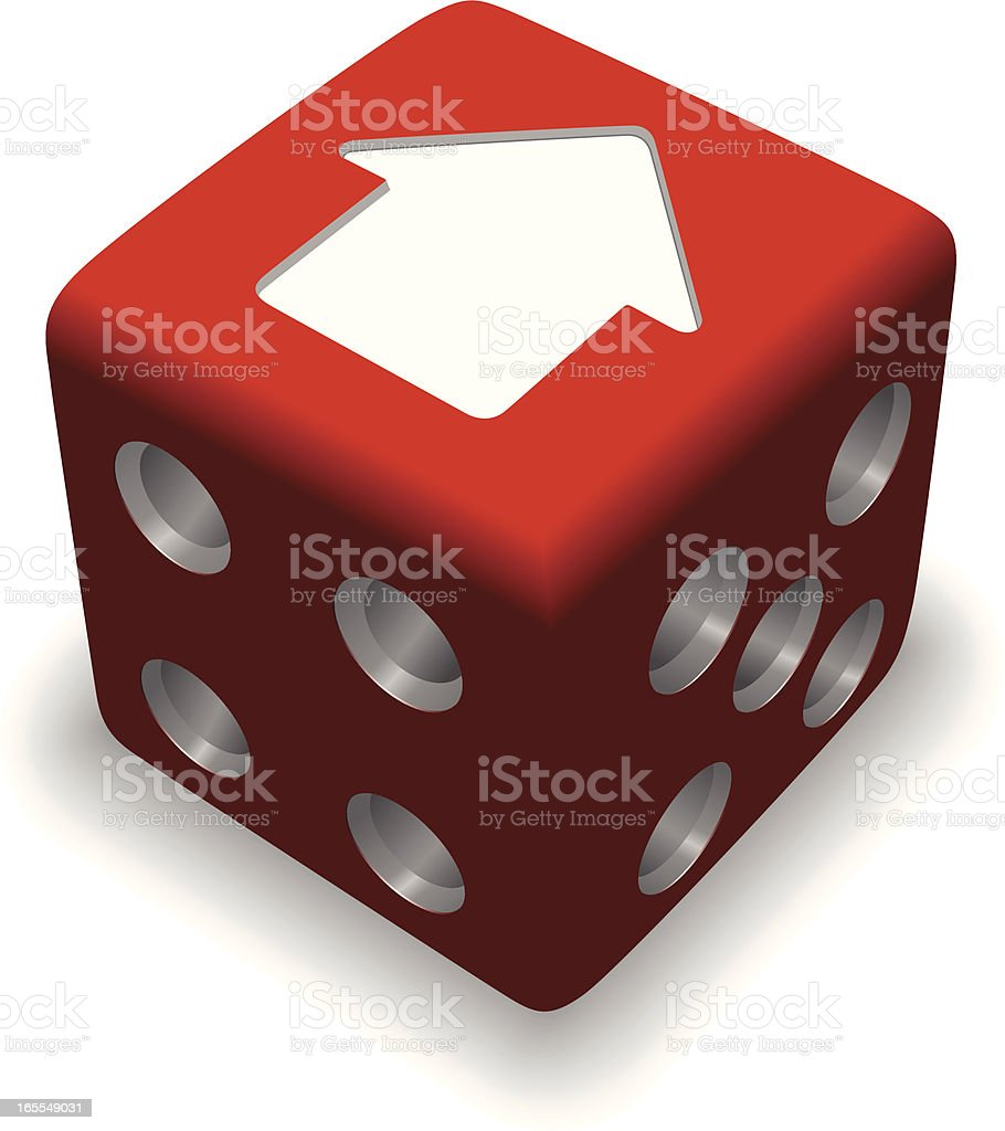 Dice with house symbol royalty-free stock vector art