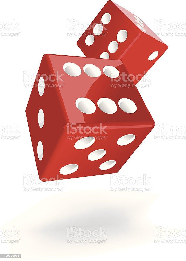 dices flying vector art illustration