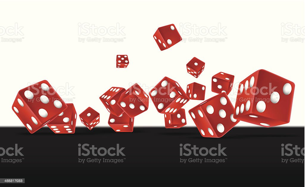 Red Dices vector art illustration