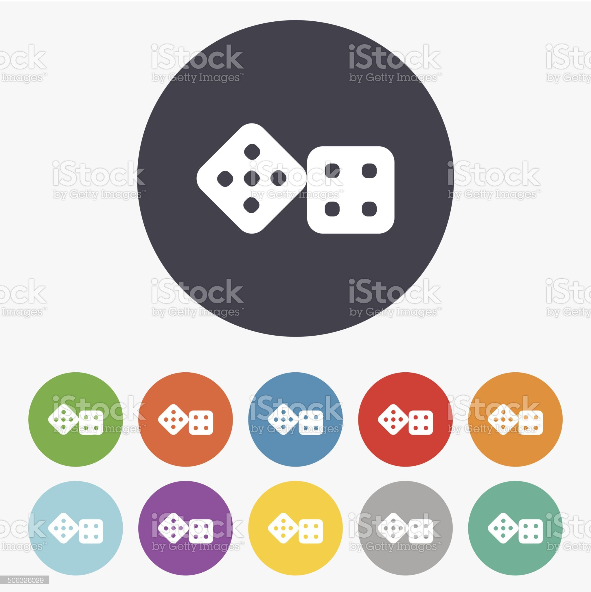 Dices sign icon. Casino game symbol. royalty-free stock vector art