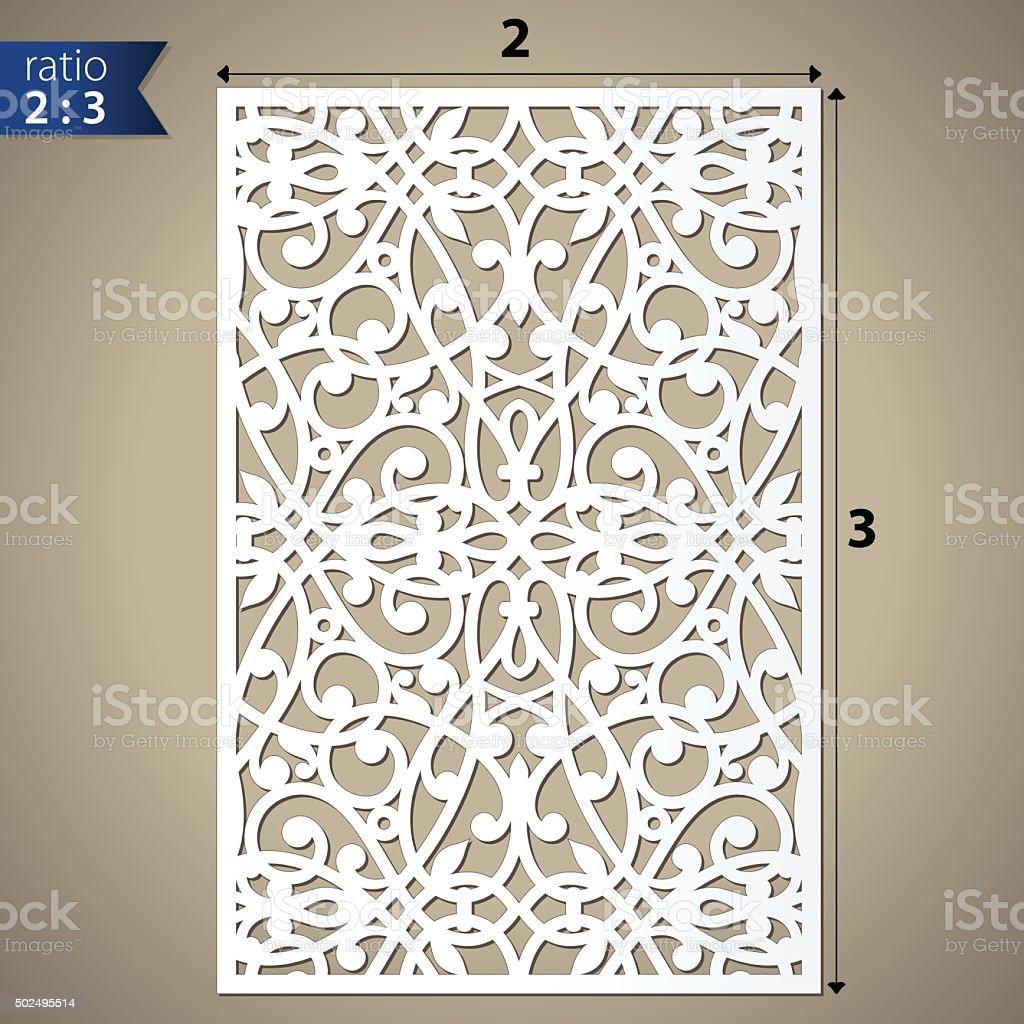 Die cut ornamental pattern vector art illustration