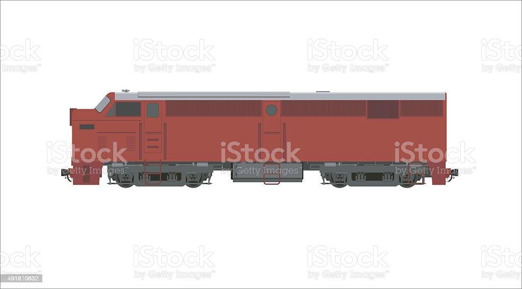 diesel locomotive simple illustration vector art illustration