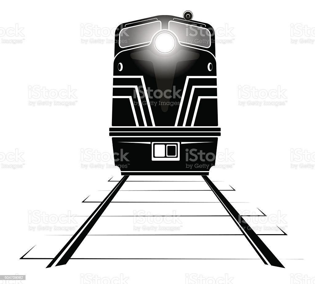 diesel locomotive vector art illustration