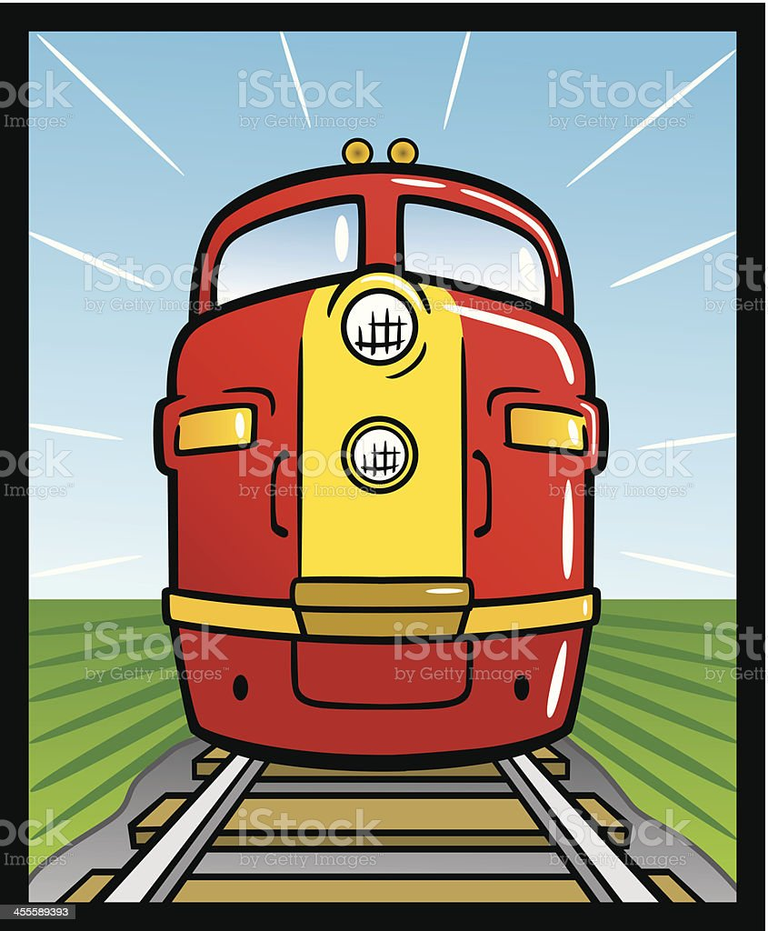 Diesel Train vector art illustration