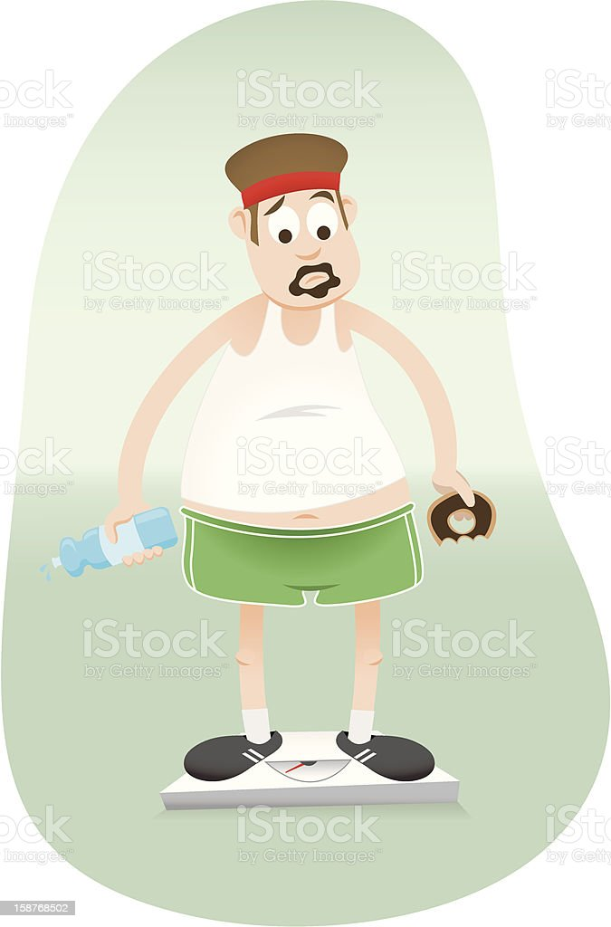 Diet and Exercise royalty-free stock vector art