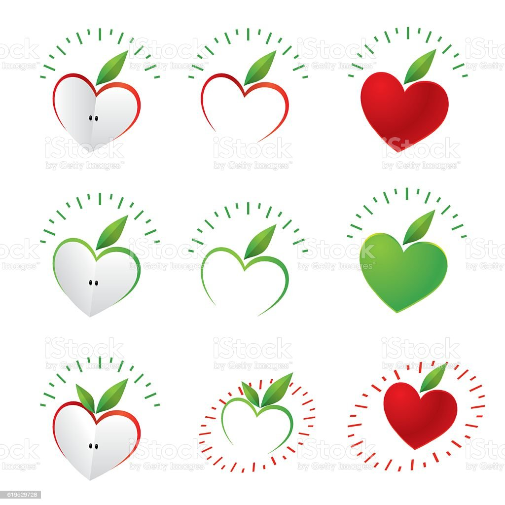 Diet Apple vector art illustration