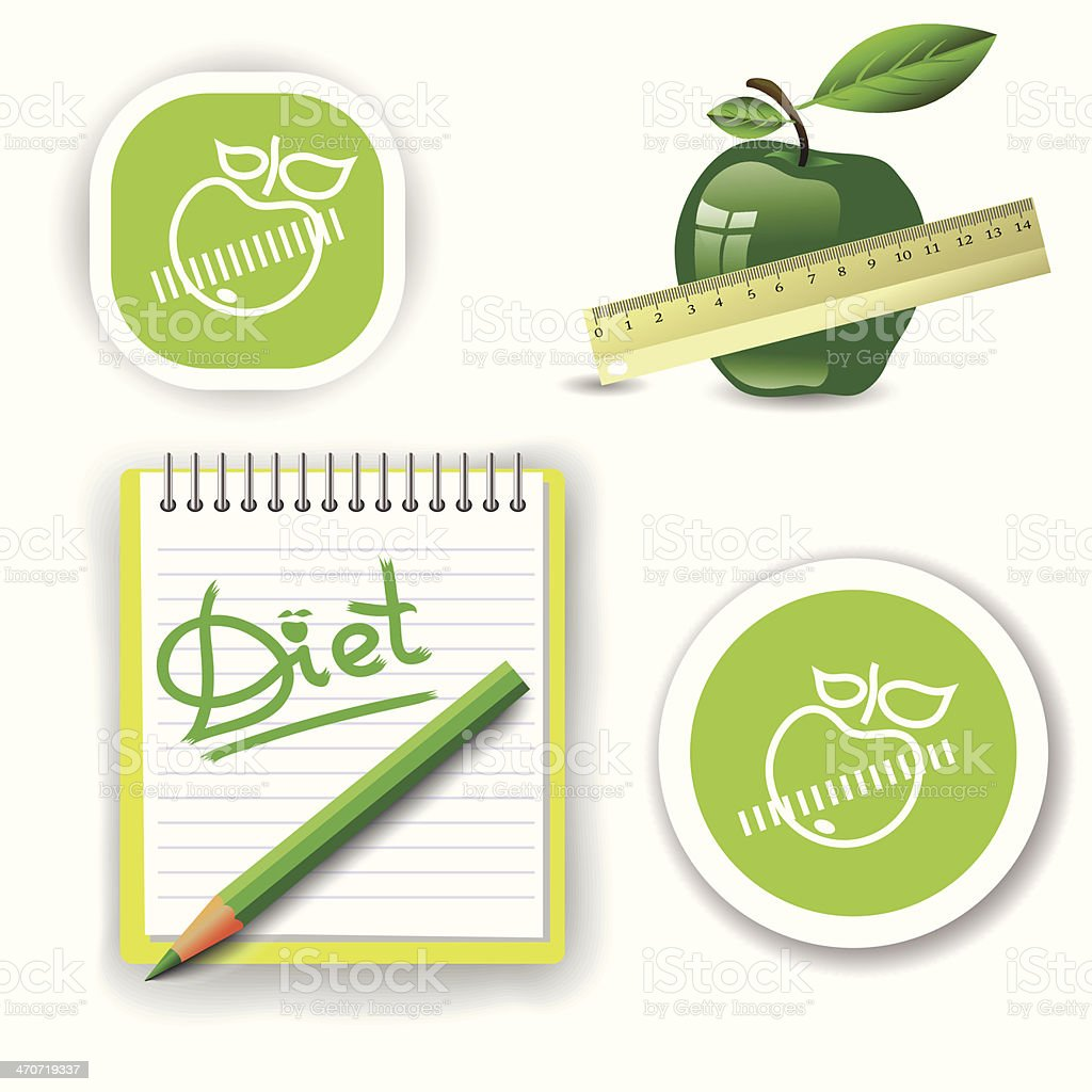 diet icons royalty-free stock vector art