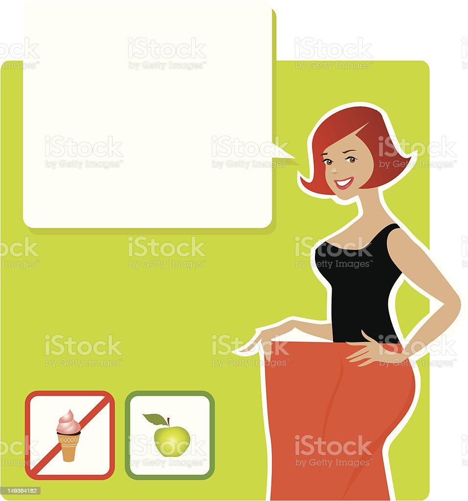 Diet result royalty-free stock vector art