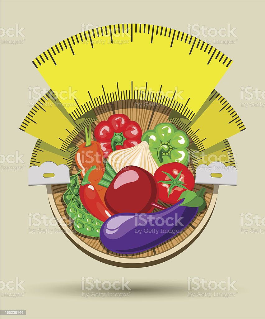 Dieting sticker royalty-free stock vector art