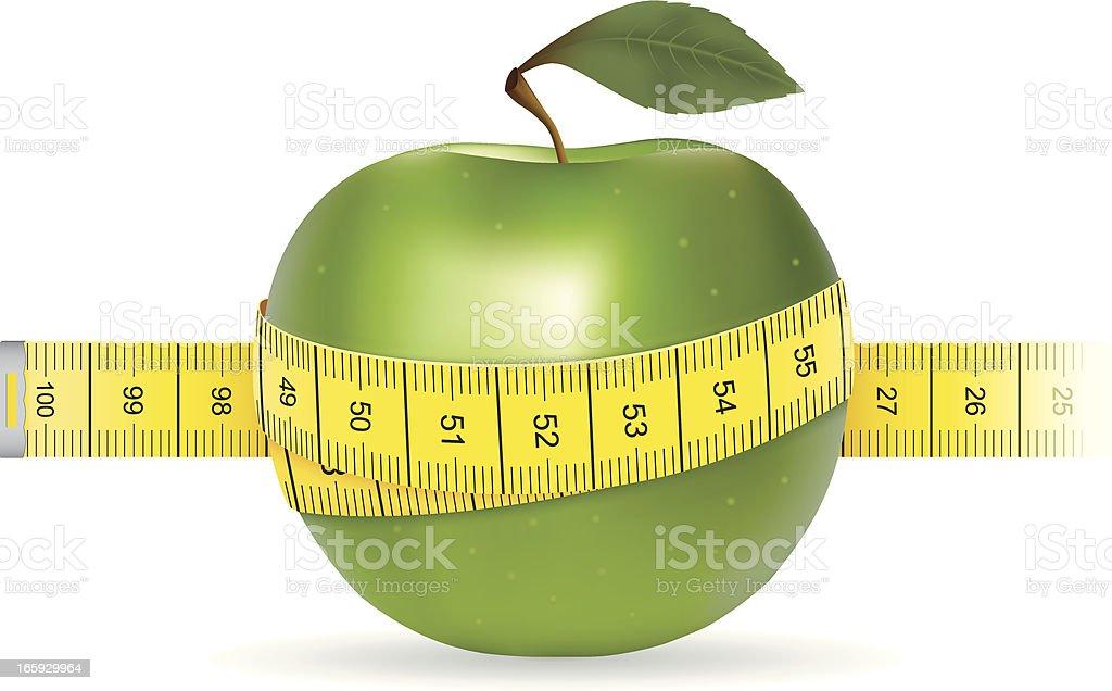 Dieting Weight Loss vector art illustration