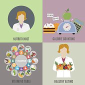 Dietitian and healthy eating