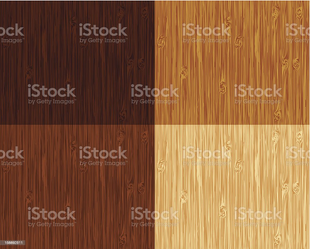 Different colors of wooden patterns vector art illustration