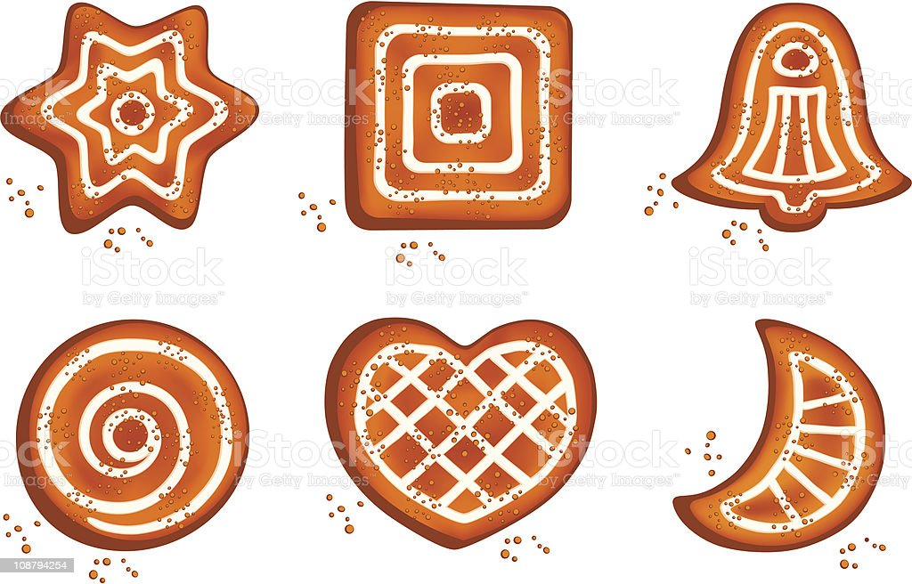 Different cookies royalty-free stock vector art