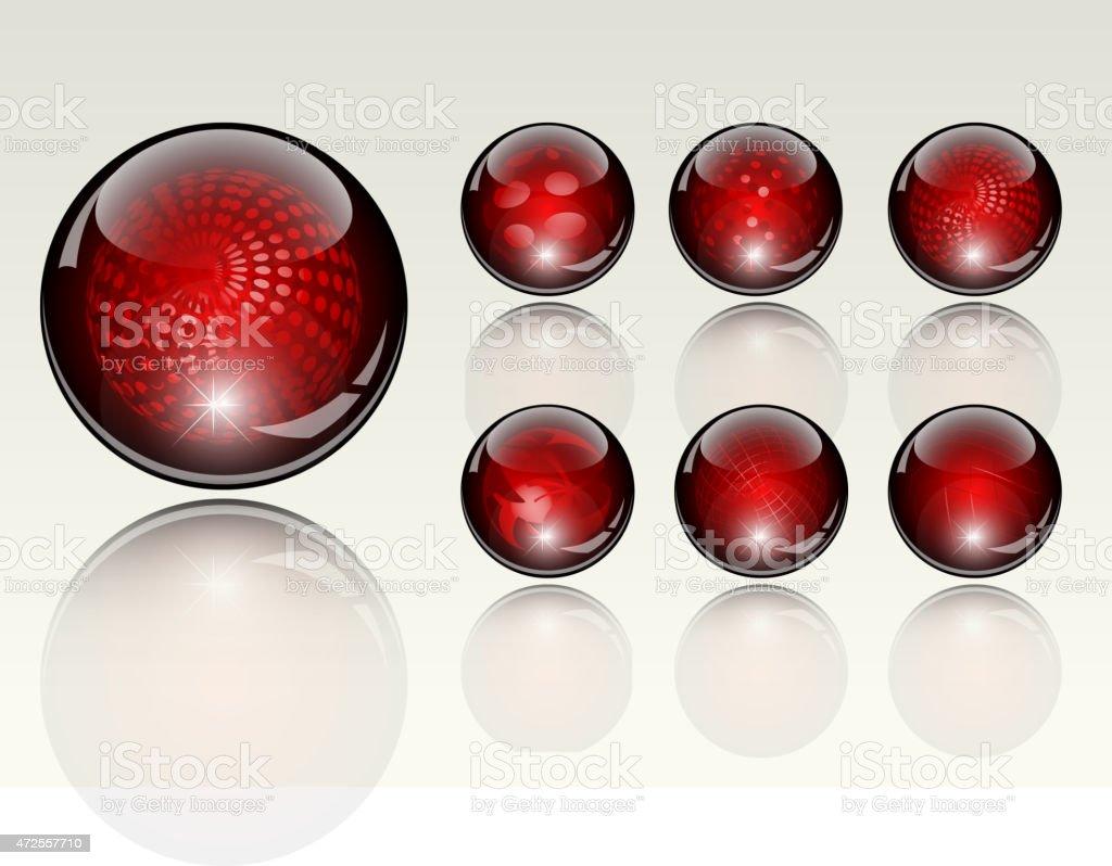 6 diferentes crystal refracting esferas illustracion libre de derechos libre de derechos