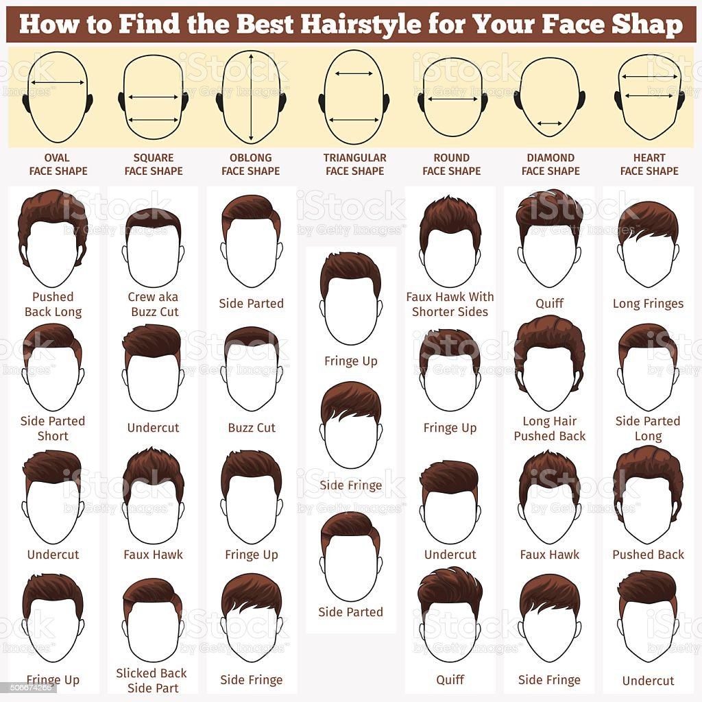 different faces and haircuts vector art illustration