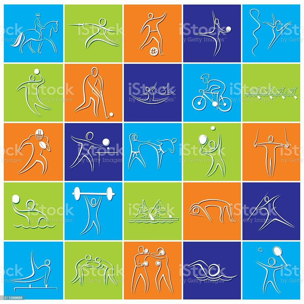 different game symbol design vector art illustration